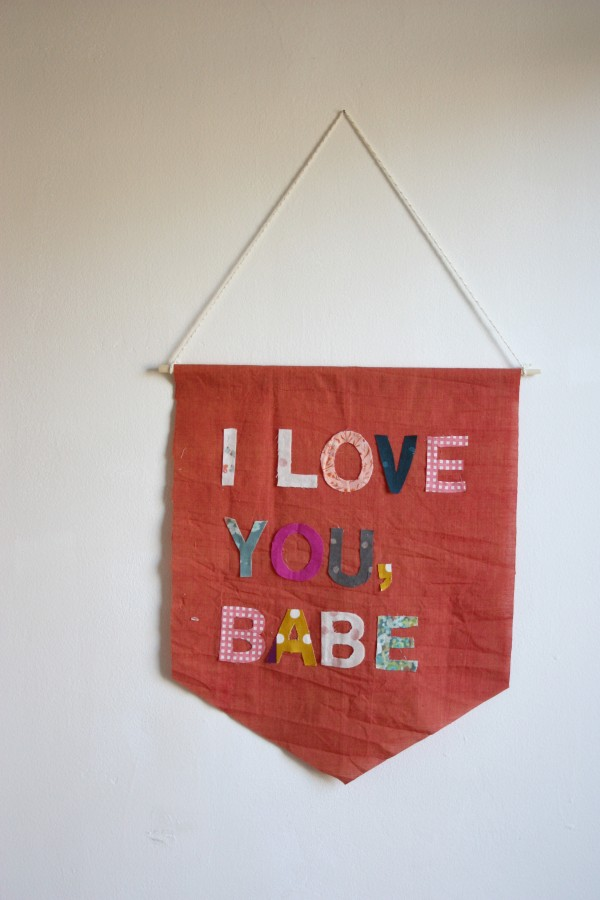 Personalised Banner from Charm Stitch