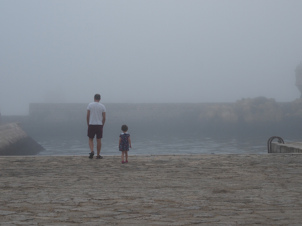 Elfie and her uncle Will in the beautiful fog
