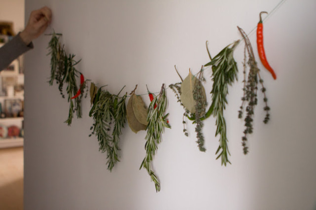 A  Rosemary kitchen Christmas garland