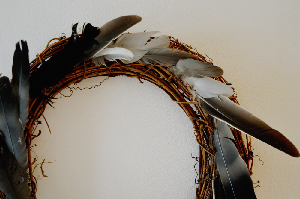 Simple Feathers Christmas Wreath