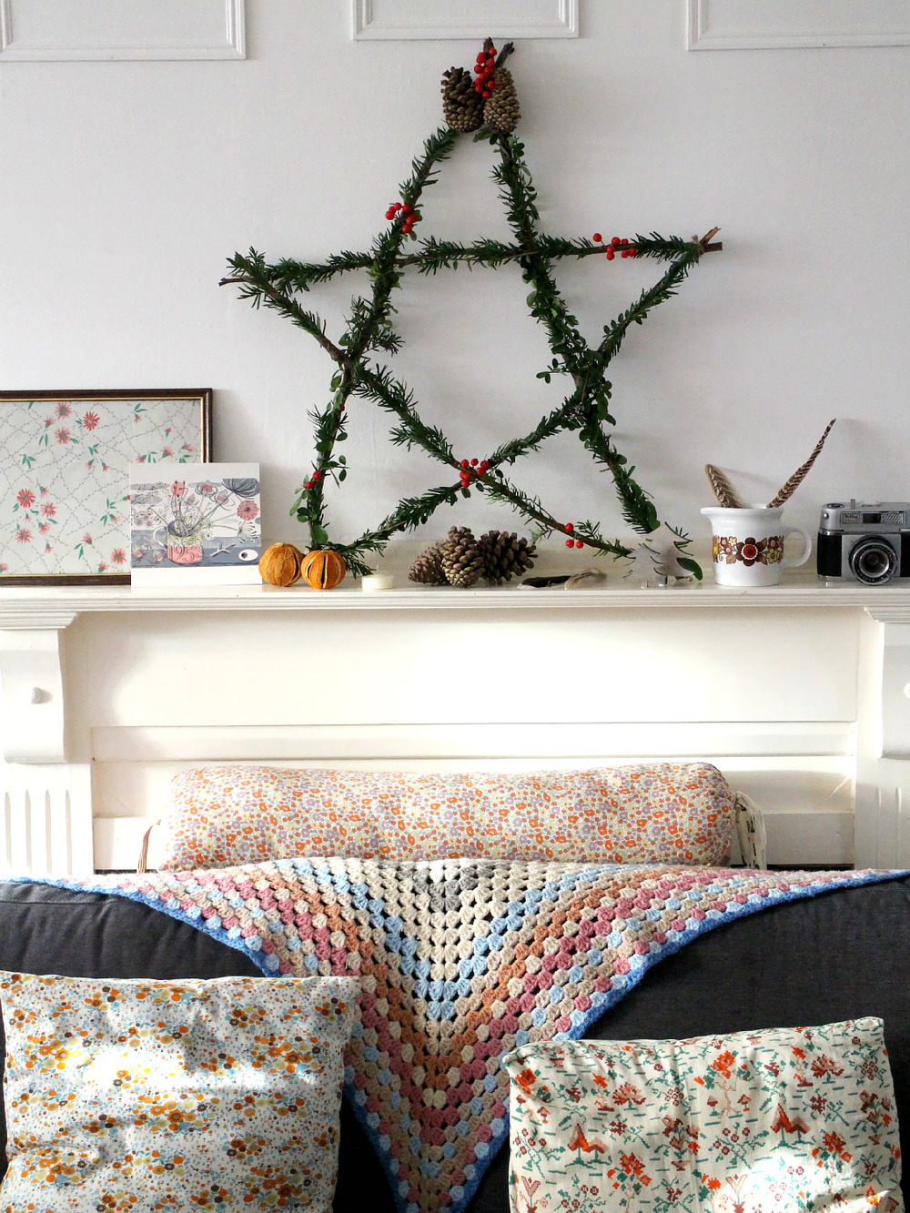 DIY Christmas rustic star by Owl and Accordion for Seeds and Stitches