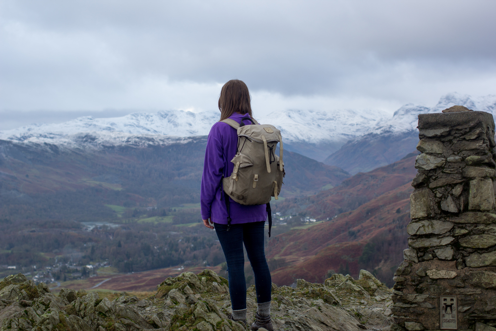At the peak of Loughrigg Fell