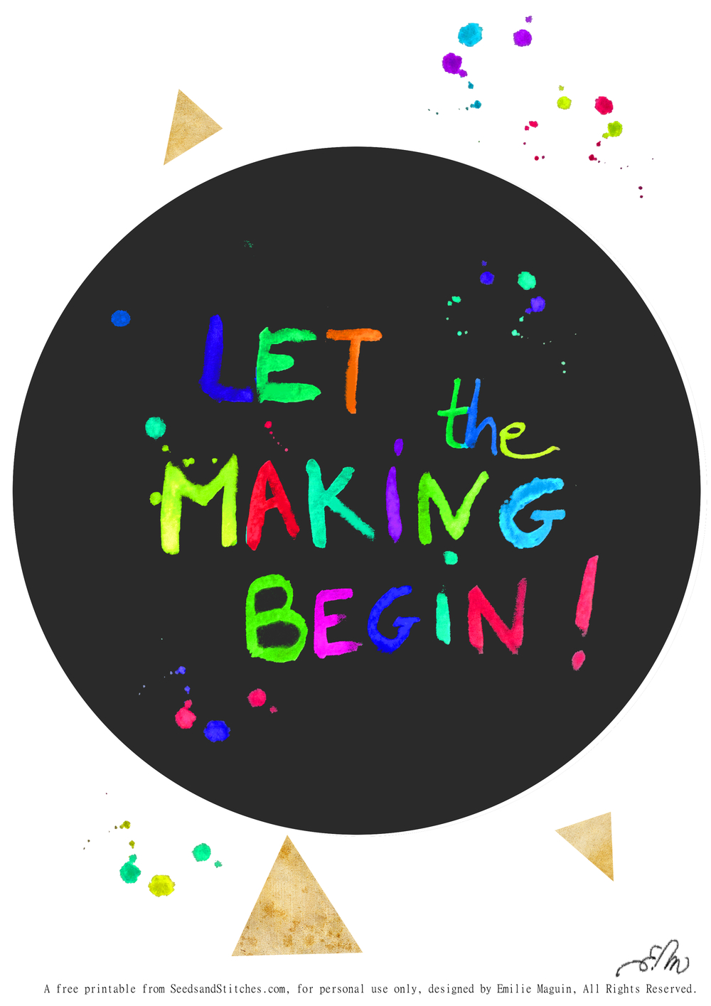 Let the making begin! by Emilie Maguin for Seeds and Stitches blog