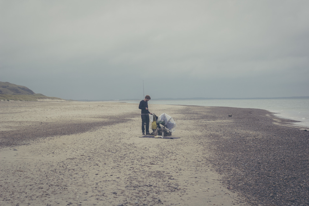 Fishing on a Danish Beach | Seeds and Stitches blog