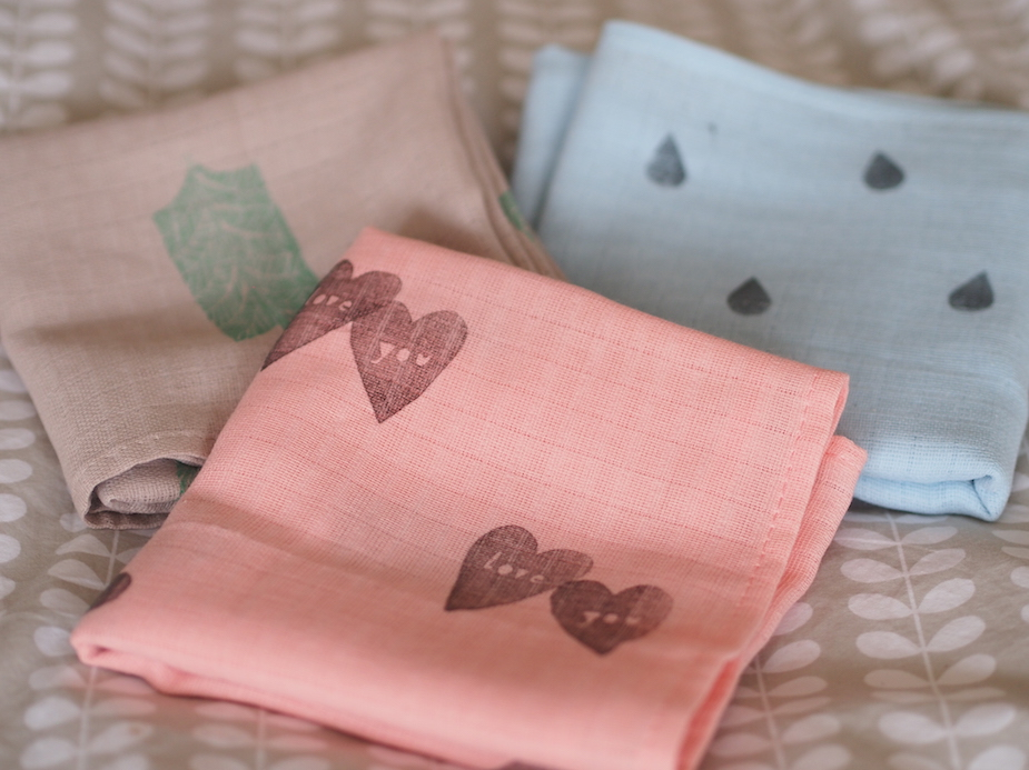 I made these stamped muslins with hannah just before Bonnie was born.