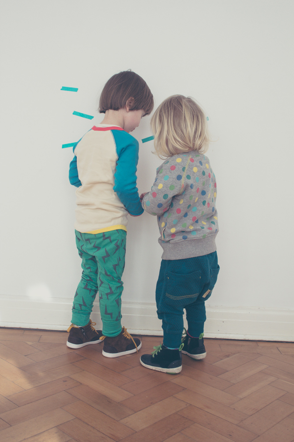 Ellie and Frankie in Boys and Girls + Clarks, photography by Wild Fox Portraits for Seeds and Stitches blog.