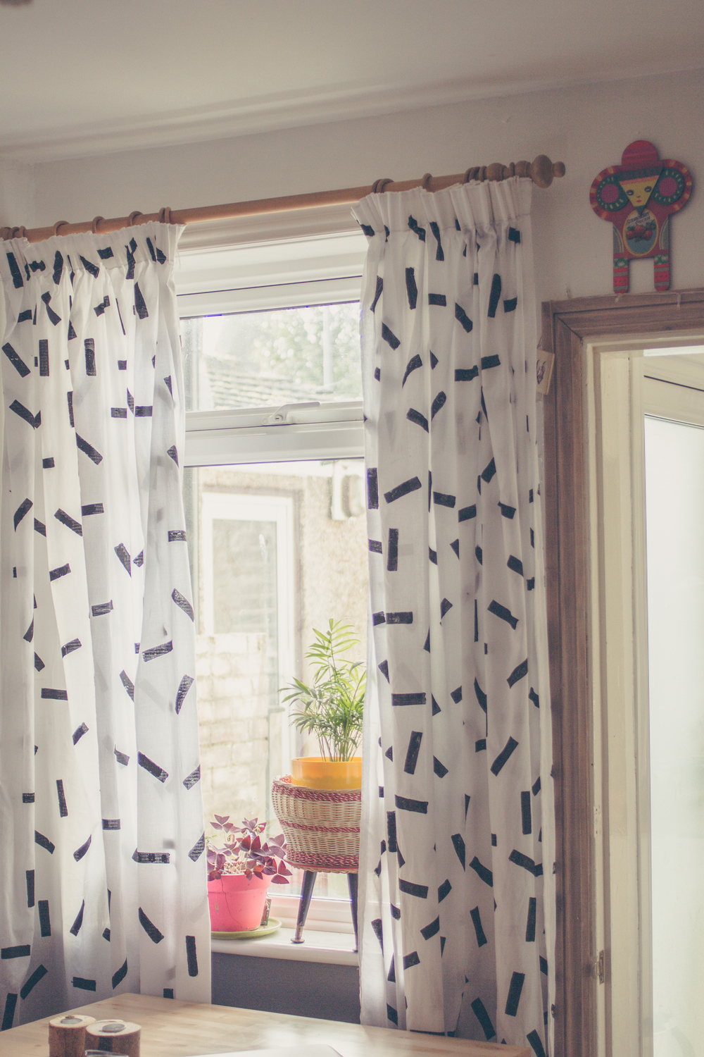 DIY confetti printed curtains   Seeds and Stitches blog