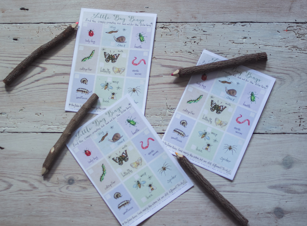 Bug Bingo for bigger kids by Emilie Maguin | Seeds and Stitches blog