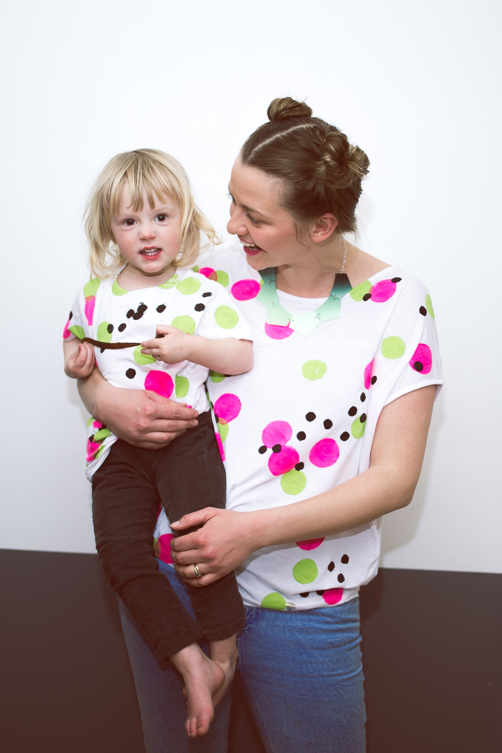 DIY Matching Confetti printed T shirt for Mollie makes | Seeds and Stitches blog
