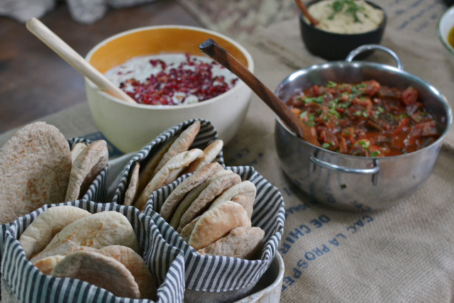 Photo of the middle eastern feast by Two Birds Kitchen, by  bethan at Decorators Notes
