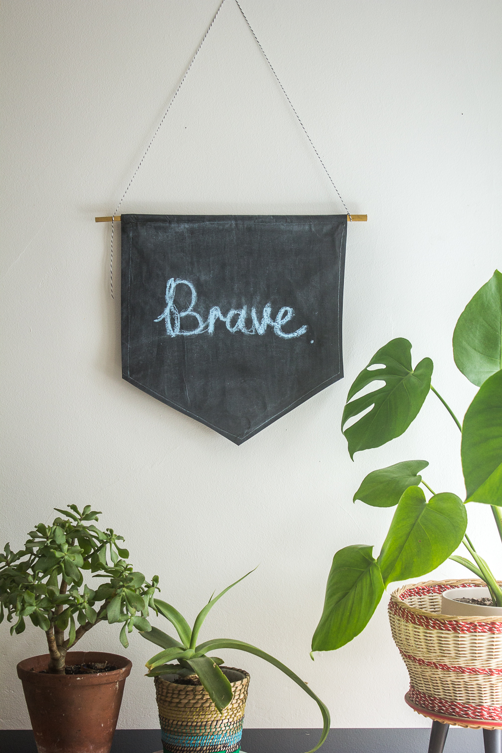 DIY Chalkboard Pennant Mantra Banner | Seeds and Stitches