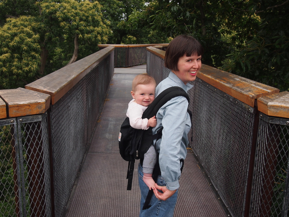 Bonnie and me going for a tree top walk at kew earlier this month
