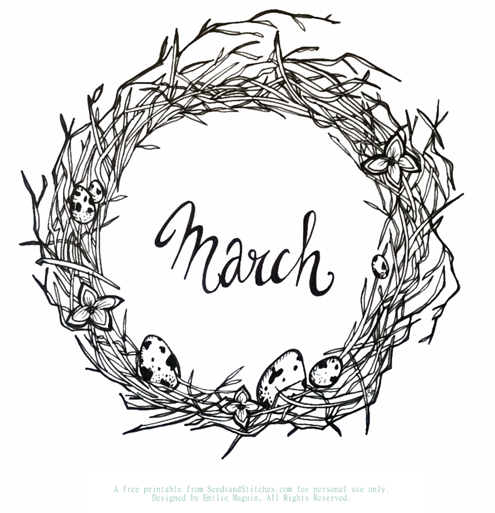 March by Emilie Maguin | Seeds and Stitches blog