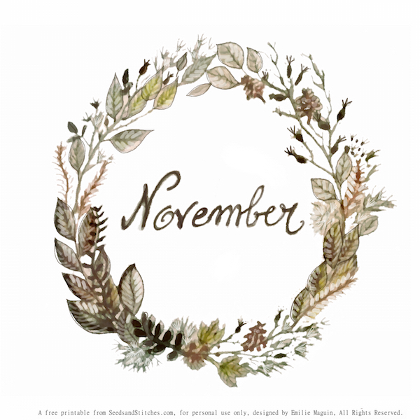 November by Emilie Maguin | Seeds and Stitches blog