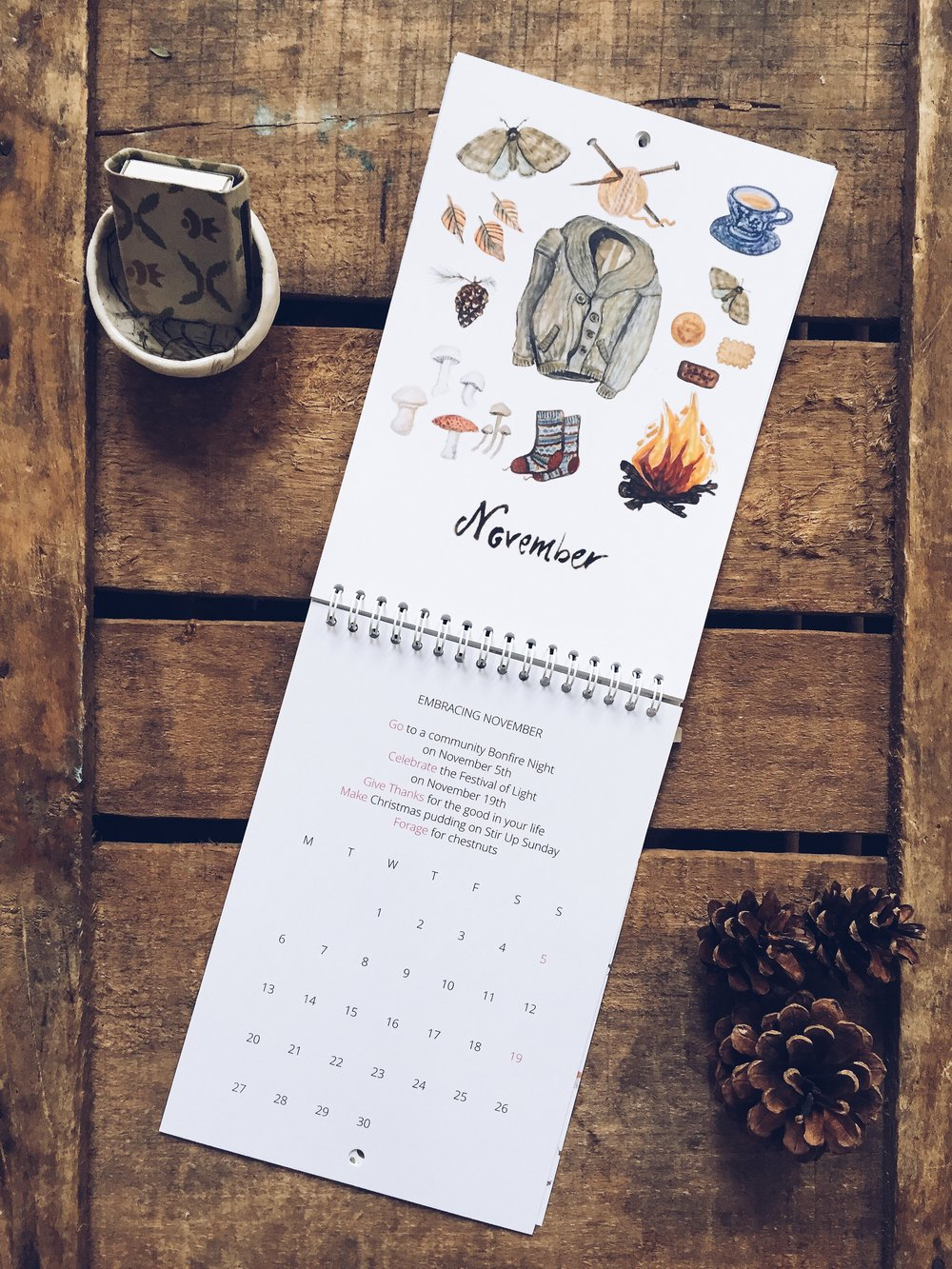 Seeds and Stitches Embracing The Seasons calendar