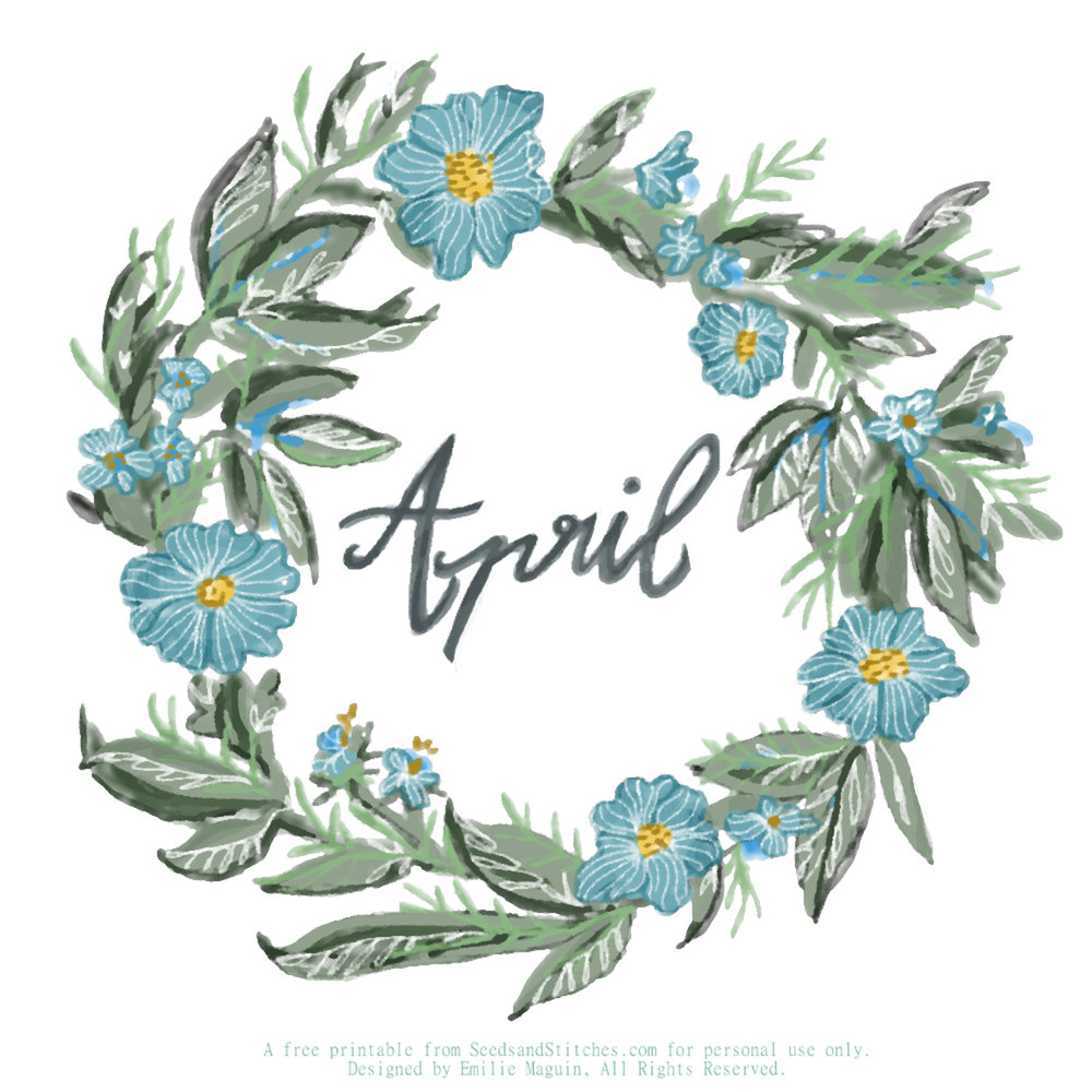 April, by Emilie Maguin.