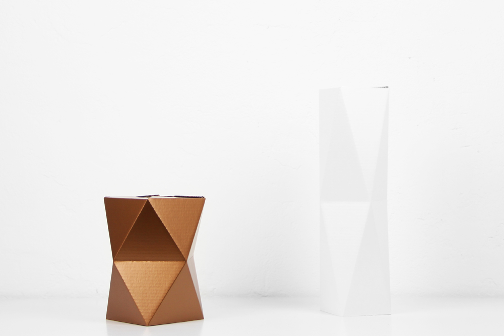 Foldable Geometric Paper Vases By Snug Goods We Like