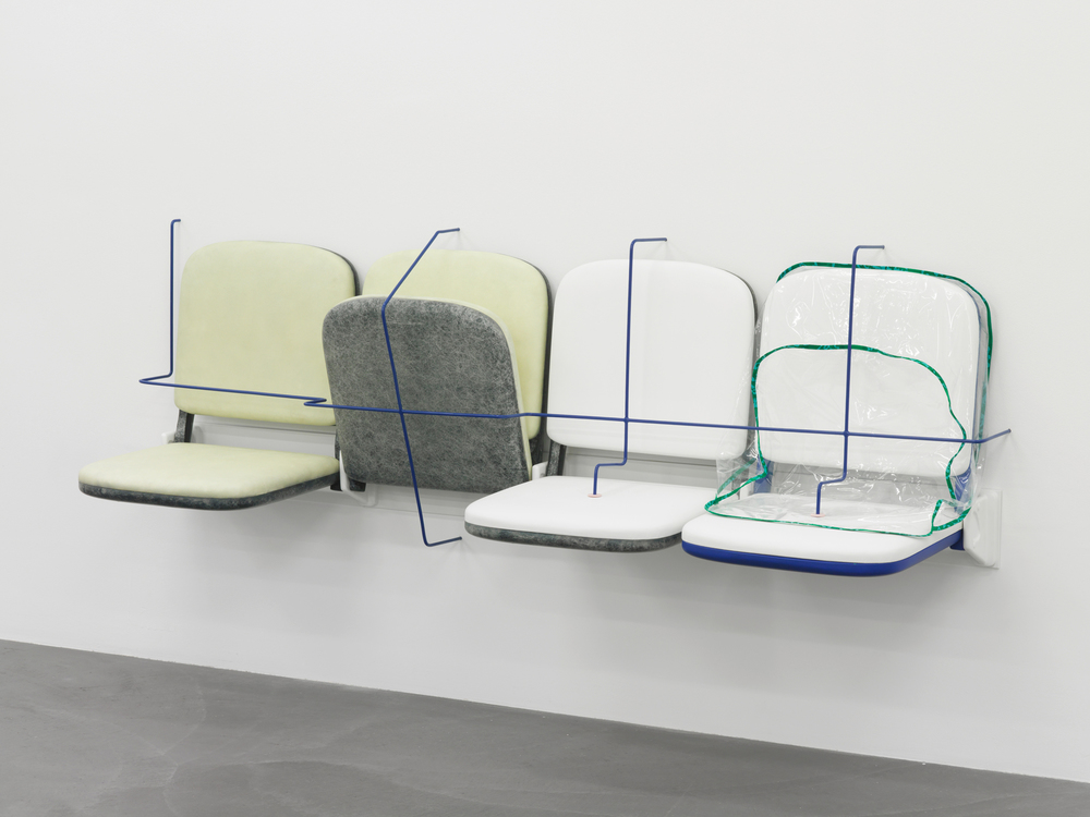 Magali Reus – Parking (Retainer) Fibreglass, polyester resin, pigments, painted steel rod, silicone rubber, PVC, cotton 2014