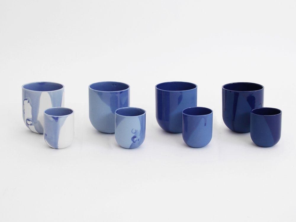 Handmade Porcelain Cups by DE INTUÏTIEFABIEK | Amsterdam € 46 - Set of 4 LEARN MORE
