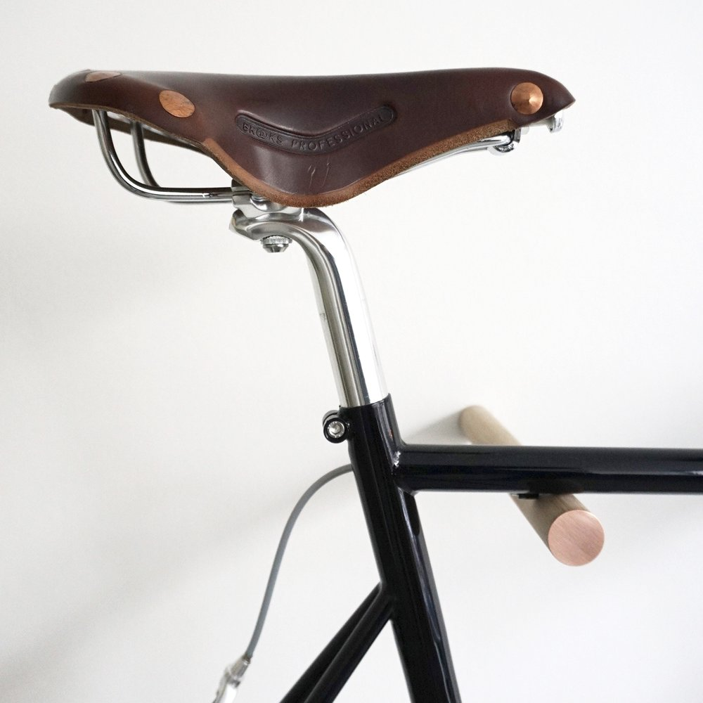 Oak & Copper Bike Hooks by FLUO | Hamburg € 75 LEARN MORE