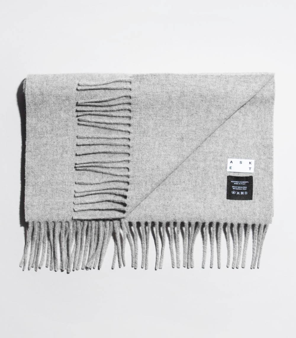 Merino-Cashmere Scarf  by ASKET | Stockholm   € 50    L   EARN MORE