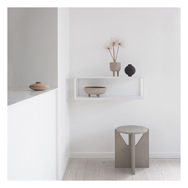 Kristina Dam's 'Sculptural Minimalism' at its best. Beautiful set up of her latest collection. @kristinadamstudio #kristinadamstudio #interior #design #inspiration