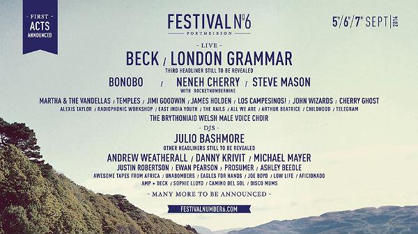Festival No.6 2014 Line-up