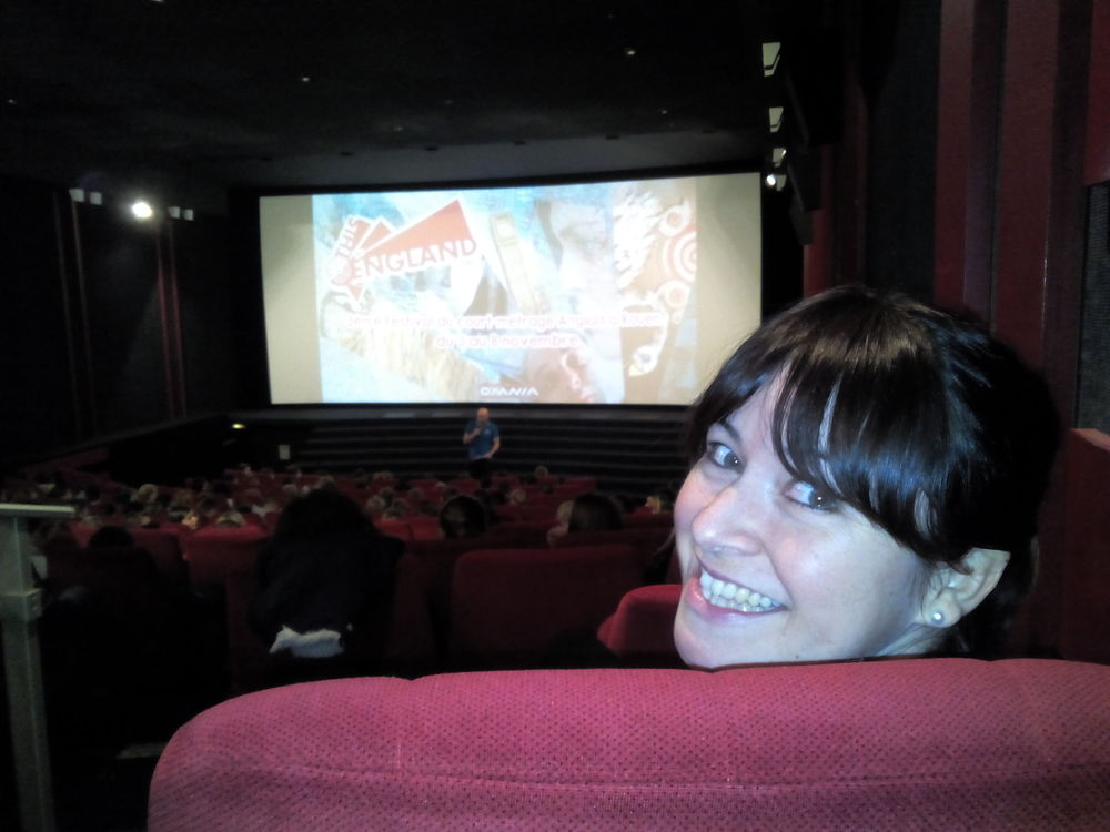 Writer Kerry McIntosh enjoying the screening at THIS IS ENGLAND in Rouen, France