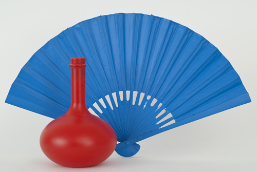 Sake Bottle and Fan, 2011