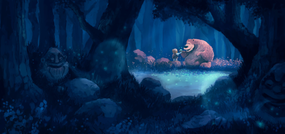 """Odd & the Frost Giants - """"Mimir's Well"""" - Concept Sketch"""