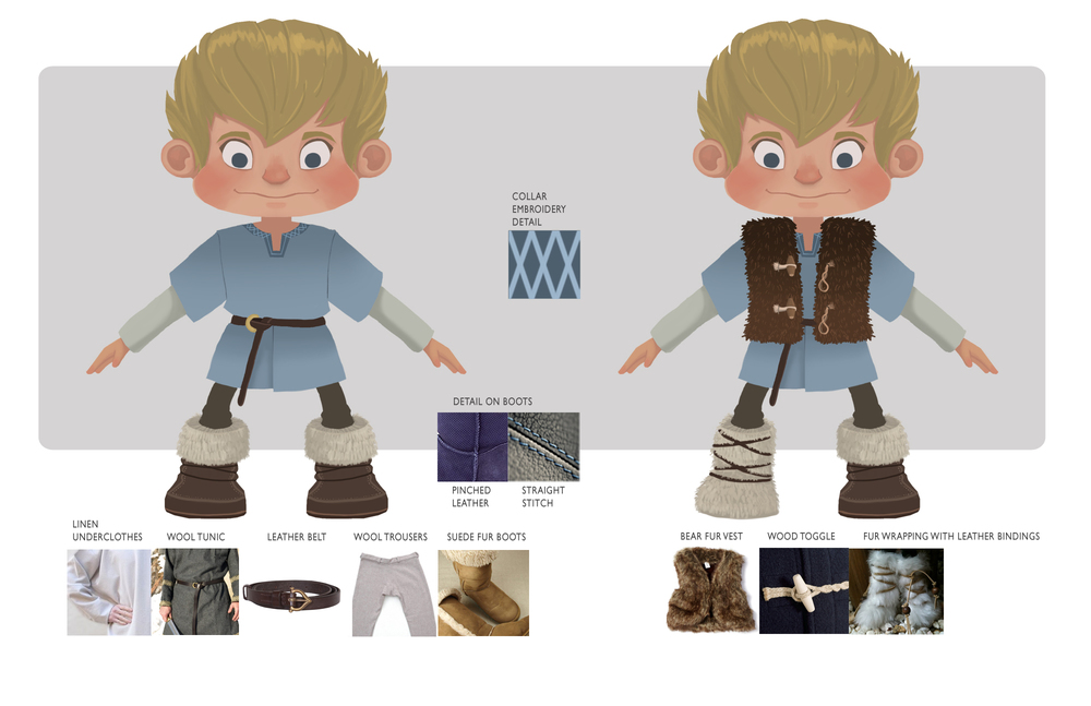 Odd & the Frost Giants - Character Costume/Texture