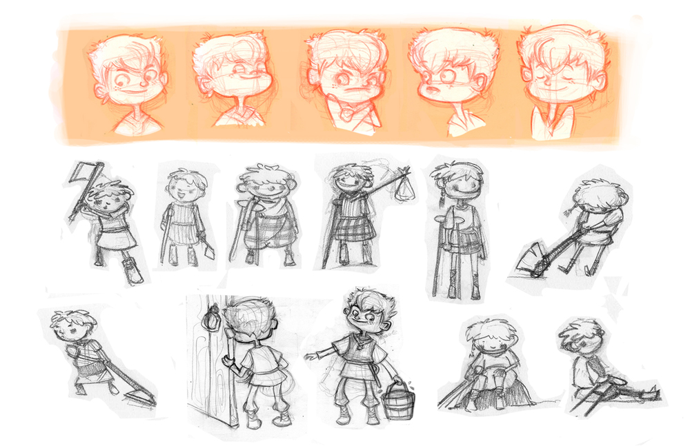 Odd & the Frost Giants - Character Sketches