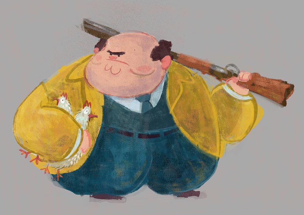 Fantastic Mr. Fox - Character Concept - Boggis