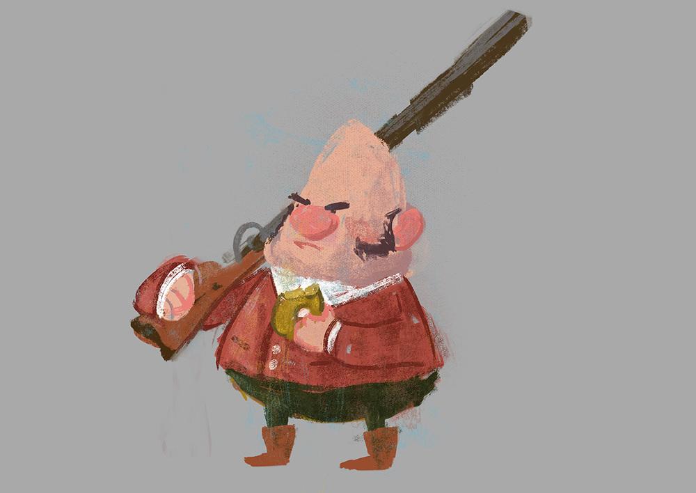 Fantastic Mr. Fox - Character Concept - Bunce