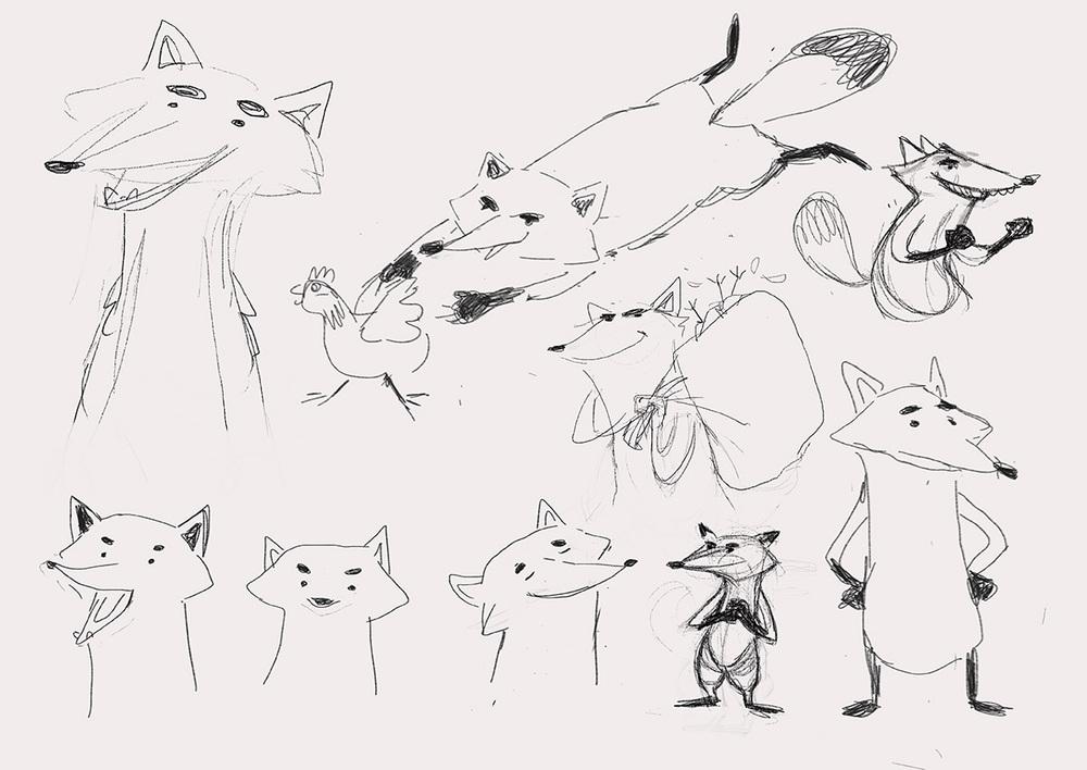 Fantastic Mr. Fox - Character Sketches