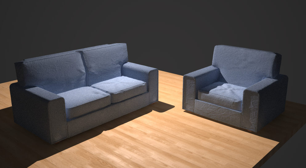 Early test to see what sort of wrinkles and fabric creases I could get with as little UV unwrapping as possible.