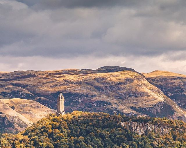 Got to see this guy in the sun for about 5 minutes. They were a good 5 minutes. . . . . #Scotland #Wallace #monument #landscape #photography #stirling #cloudy #mountains #lonesome