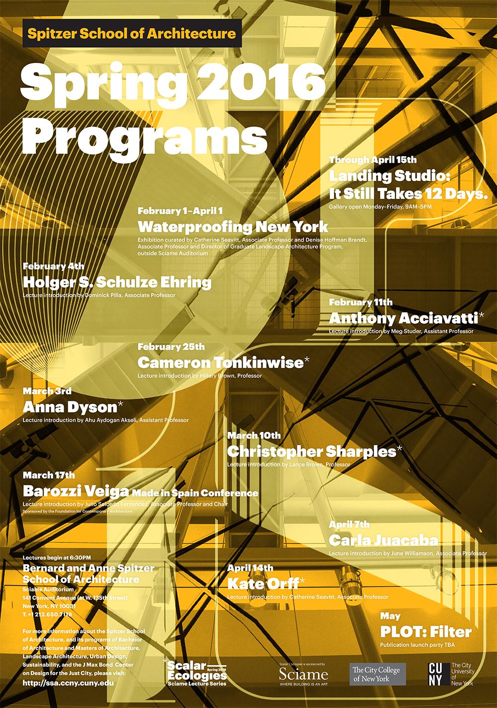 Spring 2016 Programs Poster