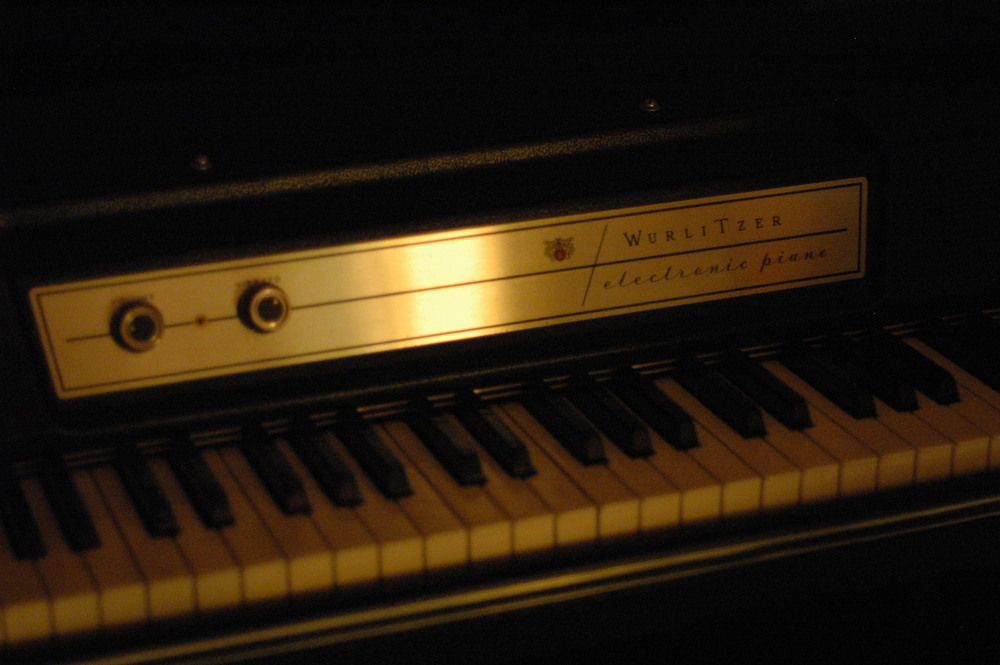 Wurlitzer 200 electric piano keyboard at Look to Listen Studios