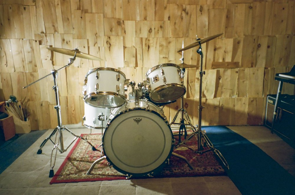 Rogers Vintage 70's drumkit at Look to Listen Studios