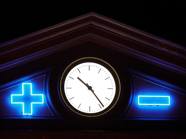 license:  Sation Clock of Zwolle Central Station in the Netherlands , by Arjan Richter, CC 2.0