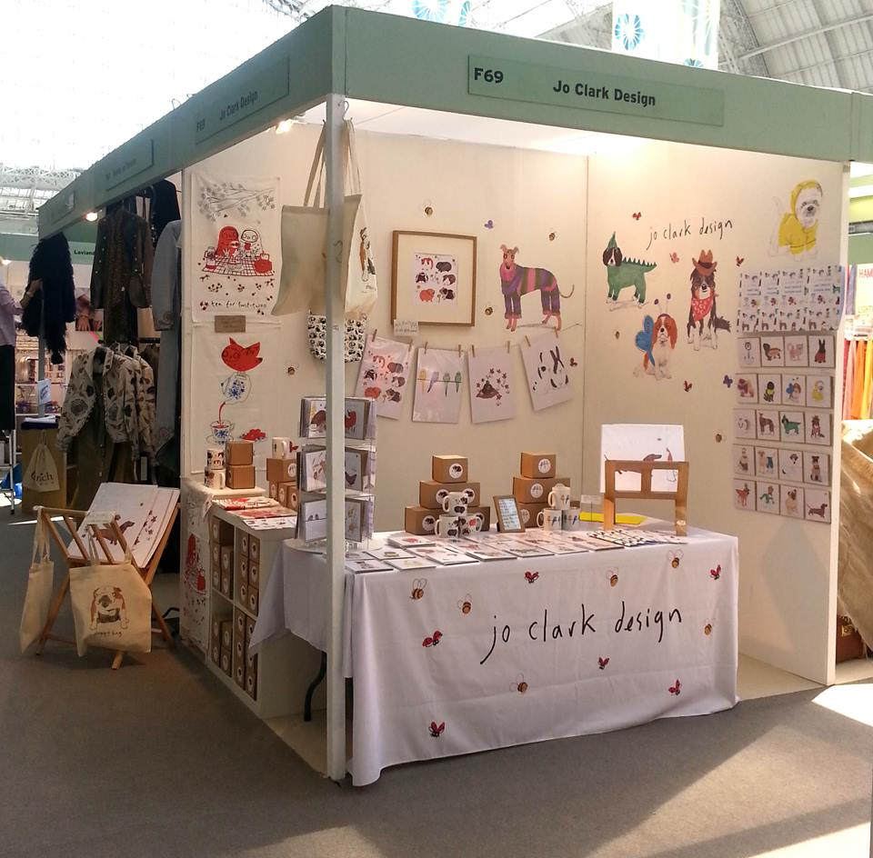 Jo's stand for 'Spirit of Summer' at the London Olympia this year.
