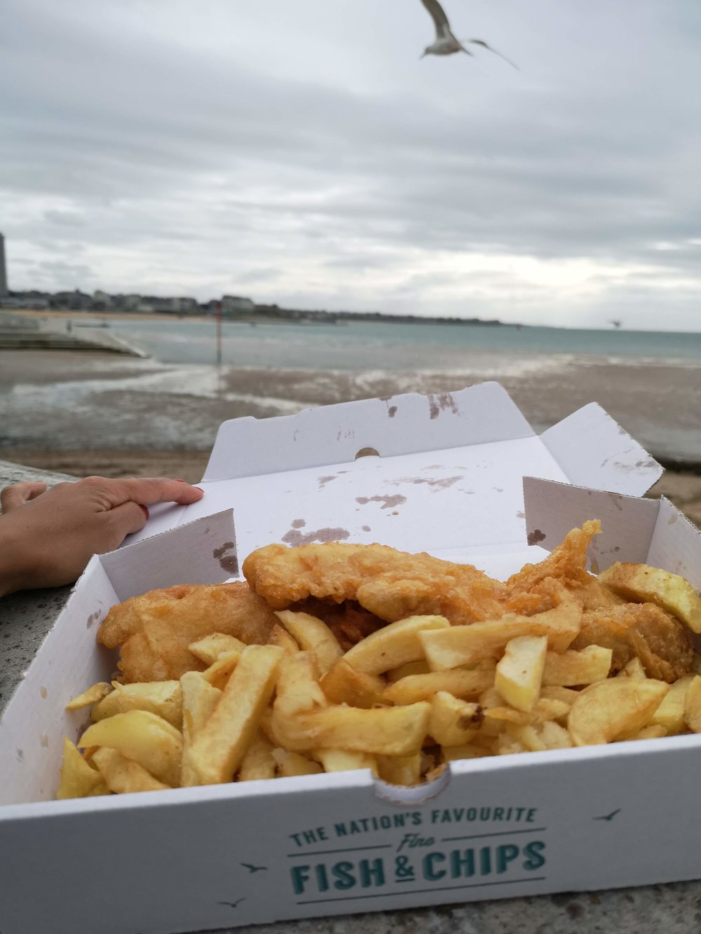 Fish n' chips on the beach