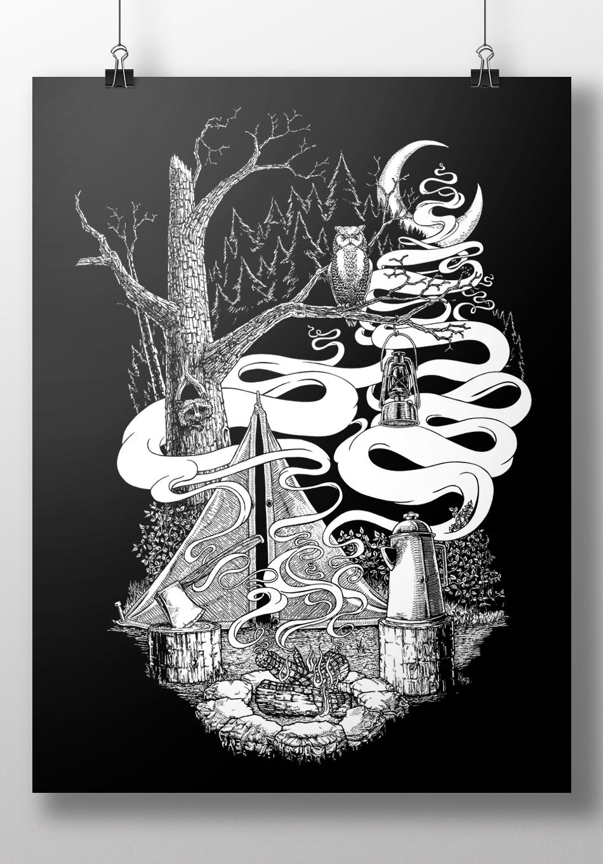 Print by Nick Nihira, 2015