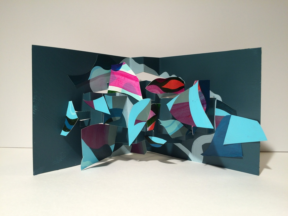 3D pop-up painting by Jeremy Rabus, 2015
