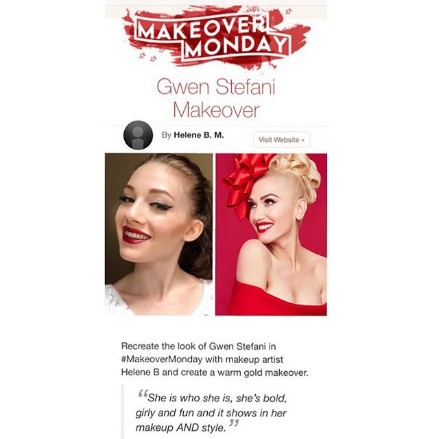Starting out 2019 with a special blog post on @cutoutandkeep ! I had a lot of fun doing this classic look of @gwenstefani and also doing a look I would want to do for her! ——— https://www.cutoutandkeep.net/blog/2018/12/gwen-stefani-makeover?utm_campaign=makeover-monday&utm_content=stage-5-1&utm_medium=email&utm_source=chase-up ——— #mua #makeup #makeovermonday #makeover #makeupblog #cutoutandkeep #featuredblogger #blog #beauty #beautyblog #gwenstefani #gwenstefanimakeup #beautymakeup #makeupartist #redlip #blackwing #celebritymakeup