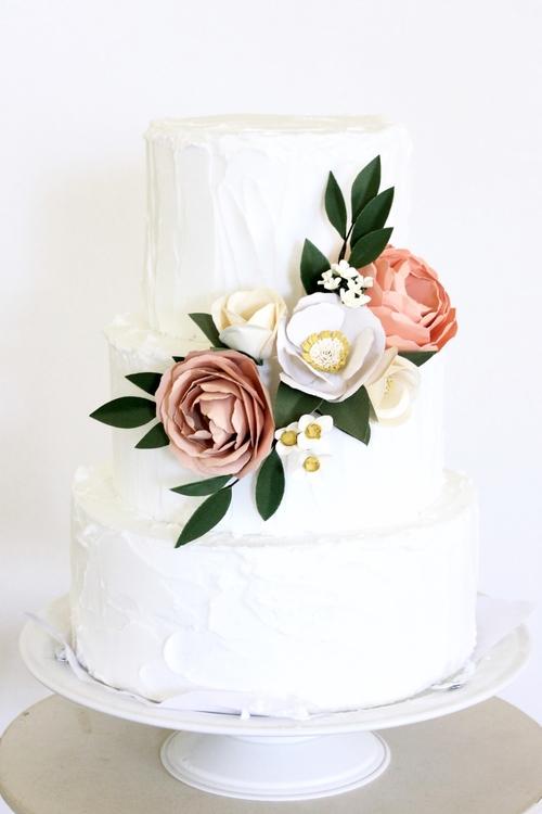 Paper flower cake topper handmade by sara kim paper flower cake topper mightylinksfo