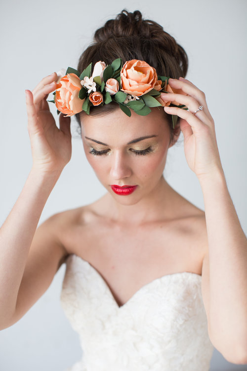 Paper Flower Crown Handmade By Sara Kim