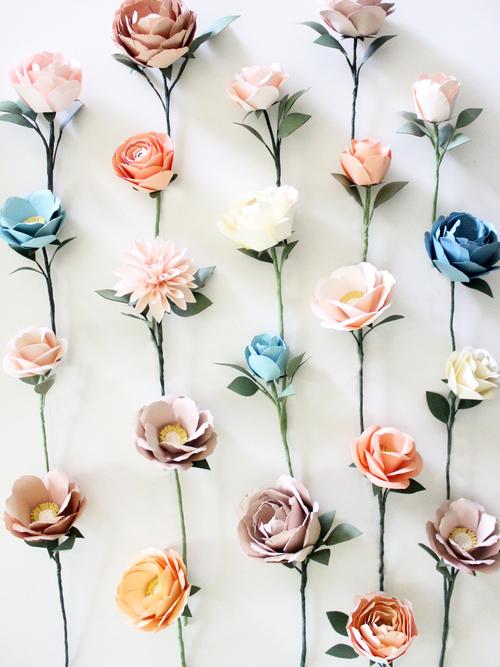 Paper flower wall handmade by sara kim paper flower wall mightylinksfo Gallery
