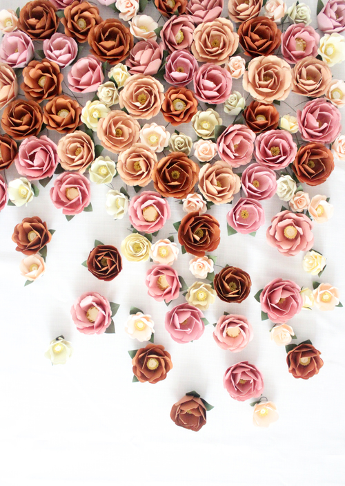 Paper flower wall handmade by sara kim paper flower wall mightylinksfo